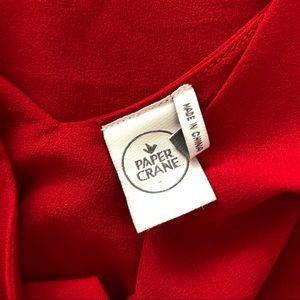 Paper Crane Tops - Paper Crane Red Spaghetti Strap Tank Top